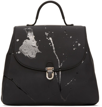 Cherevichkiotvichki Black Small Splatter Lock Bag