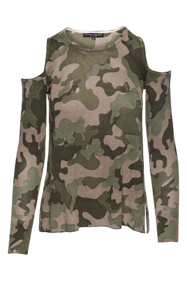 Central Park West Camo Cold Shoulder