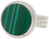 Anna Beck Sterling Silver Round Malachite Stone Ring
