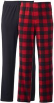Men's 2-pack Solid & Checked Microfleece Lounge Pants