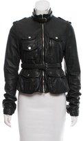 Neil Barrett Leather Belted Jacket