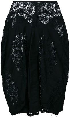 Junya Watanabe Comme Des Garçons Pre Owned Draped Lace Skirt