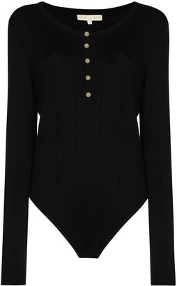 USISI SISTER Fine-Knit Buttoned Bodysuit