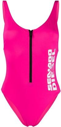 Diesel Logo-Print Swimsuit