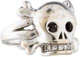 Christian Dior Diamond Tete de Mort Skull Ring
