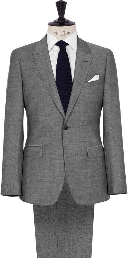 Reiss Youngs ONE BUTTON PEAK LAPEL SUIT