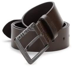Diesel Square Buckled Leather Belt
