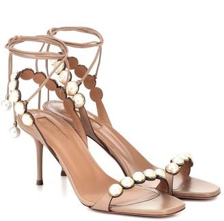 Aquazzura Mae 75 embellished leather sandals