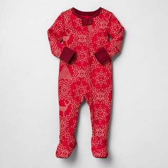 N. Hearth & Hand with Magnolia Baby Holiday Bodysuit Footed Snowflake Pajamas - Hearth & HandTM with Magnolia