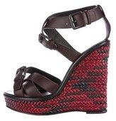 Bottega Veneta Platform Wedge Sandals