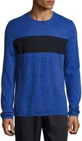 Vince Cashmere-Blend Striped Sweater, Blue