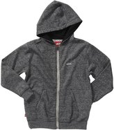Vans Basic Zip Hoodie II (Kid) - Black Heather-Small