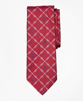 Brooks Brothers Nautical Knots and Fleece Tie