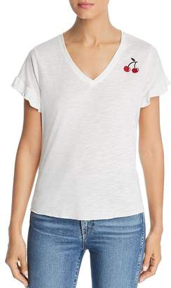 BILLY T Cherry Embroidered Tee