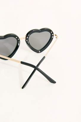 Free People Eye Candy Sunglasses by Free People, Black / Gold, One Size