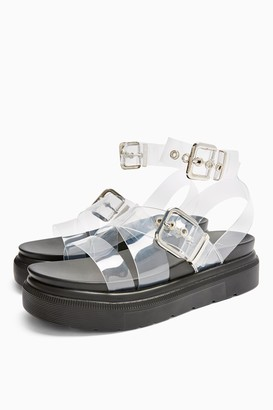 Topshop Womens Prime Chunky Sandals - Clear