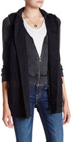 Miss Me Long Sleeve Jacket with Layered Vest (2-Piece Set)