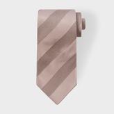 Paul Smith Men's Muted Pink Textured Stripe Silk Tie
