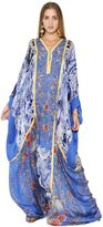 Roberto Cavalli Floral Printed Panels Silk Chiffon Dress