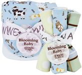 Trend Lab Baby Barnyard Hooded Towel & Washcloth Bouquet Set