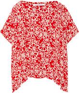 Diane von Furstenberg Printed crepe top