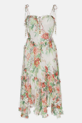 Zimmermann Ivory Floral Bellitude Floating Dress