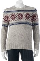 Men's SONOMA Goods for Life® Classic-Fit Patterned Crewneck Sweater