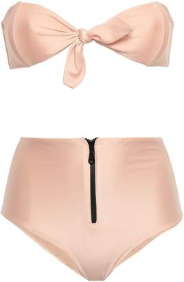 Adriana Degreas Tie-front Bandeau Bikini