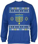 Old Glory Menorah Ugly Hanukkah Sweater Royal Adult Sweatshirt