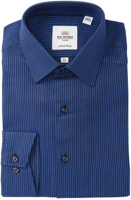Ben Sherman Textured Stripe Slim Fit Dress Shirt