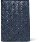 Bottega Veneta Intrecciato Leather Bifold Cardholder - Midnight blue
