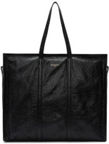 Balenciaga Black Leather Arena Shopper Tote