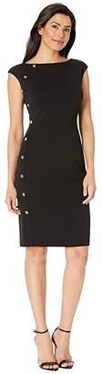 Lauren Ralph Lauren Clark w/ Trim Dress (Black) Women's Dress