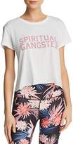 Spiritual Gangster Varsity Raw-Edge Cropped Tee