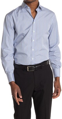 Thomas Pink Regent End on End Striped Classic Fit Shirt