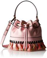 Milly Whitpstitch Tassel SM Drawstring Cross-Body Bag
