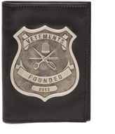 Vetements Police-badge Leather Passport Holder - Mens - Black