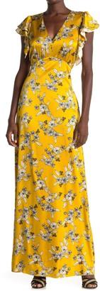 Veronica Beard Padma Floral Silk Blend Maxi Dress