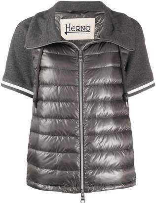 Herno short-sleeved quilted-down jacket