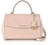 Michael Kors Ava Medium Soft Pink Saffiano Top Handle Satchel