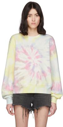 Amiri Multicolor Logo Tie-Dye Hippie Sweatshirt