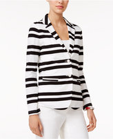 Tommy Hilfiger Striped Two-Button Blazer, Only at Macy's