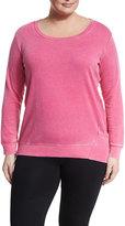 Marc NY Performance Plus Distressed Fleece Long-Sleeve Sweatshirt, Plus Size