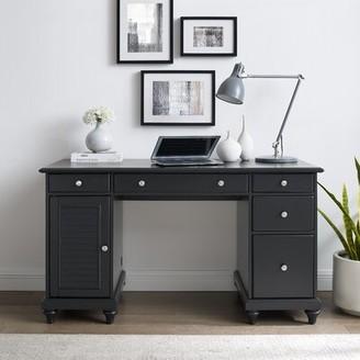 Three Posts Hunterstown Desk Color: Black