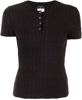 Chanel Pre Owned 2001 Buttoned Knitted Top