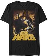 Star Wars Men's Vader Vs Boba Graphic T-Shirt