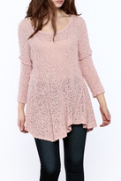 POL Solid Net Sweater