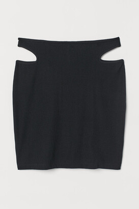 H&M Ribbed mini skirt