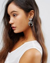 House Of Harlow Double Crescent Hook Drop Earrings