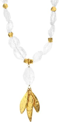 Sylvia Toledano 22K Goldplated & Crystal Beaded Necklace